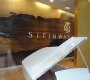 Custom printed wall vinyl for Steinway Piano