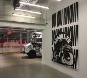 Digitally printed and stretched canvas for Nike NYHQ