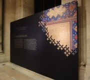 For The Three Faiths Exhibition at the NYPL we used large scale cut vinyl to install on screen printed walls.