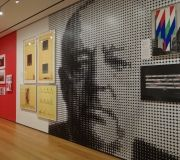 Mies exhibition at MoMA. Large format digitally printed wallpaper, print and installation by Color X .