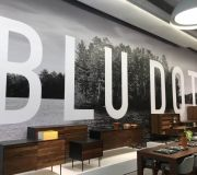 Digitally printed wall covering for retail store in NYC