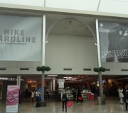 Super wide format vinyl banners for Nike event at Mall.  Printing on vinyl and Vinyl mesh up to 16' wide .