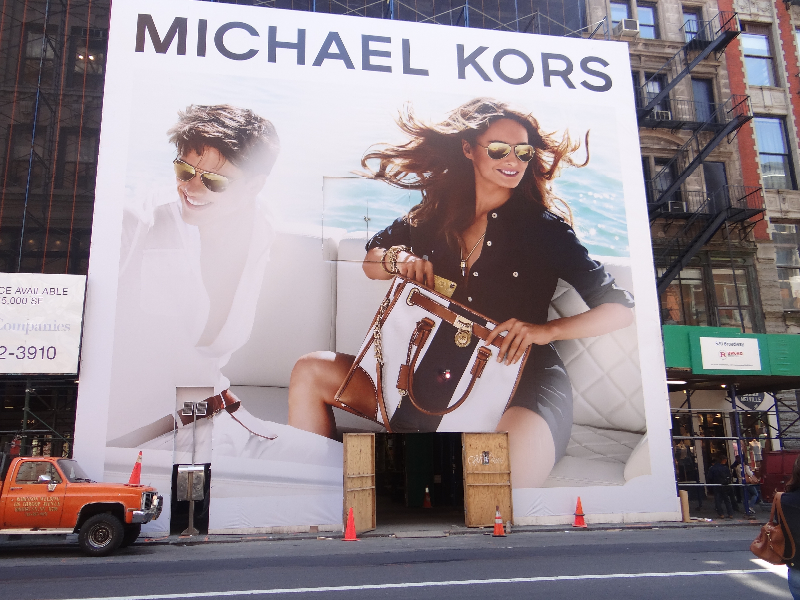 Michael Kors Construction Barricade print