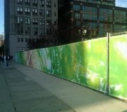 Printing vinyl mesh for construction site adds beauty to environment