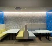 Office decor with custom printed wallpaper - Warner Media Group-