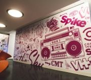 Large printed vinyls for reception area of media giant ,