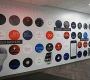 Digitally printed wall vinyl for corporate interior