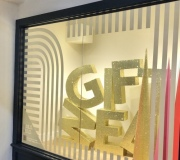 3D gold glitter letters for retail windows