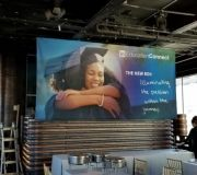 Wide format fabric banner printing for events