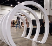 Custom fabricated Arches for event - CNC MDF and custom vinyl