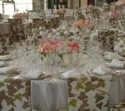 Fashion icon company celebrates and we are there to brand room with custom printed chairs and table wraps