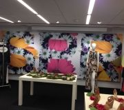 Printed fabric for fashion events brings out bright colors and hi definition quality