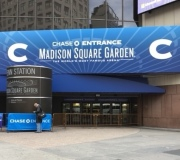 Large Fabricated Vinyl Sign at entry to the Worlds Most Famous Arena - MSG