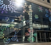 Large scale windows vinyl graphics