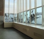 South Street Seaport Museum used translucent vinyl on windows.