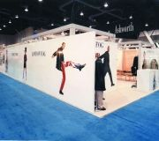 Large printed images are used here in trade show booth.
