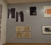 The Gallery walls of Print Out exhibit at MoMA use printed wall vinyls.