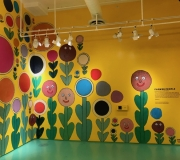 Interior walls vinyl printing help create fun environment  at ColorFactory NYC