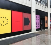 Window Vinyls printing & installation for. Color Factory NYC ls