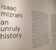 Title wall as cut vinyl lettering for museum exhibit