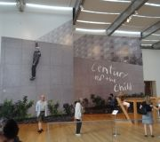 This gigantic wall mural is at MoMA, for the Century Of A Child exhibition.