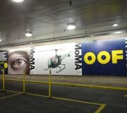 Outdoor advertising large format printed vinyl and installed