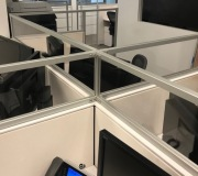Plexiglass cubicles extensions and dividers for offices