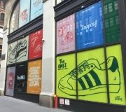 Large scale printed vinyl graphics for Pop Up Store