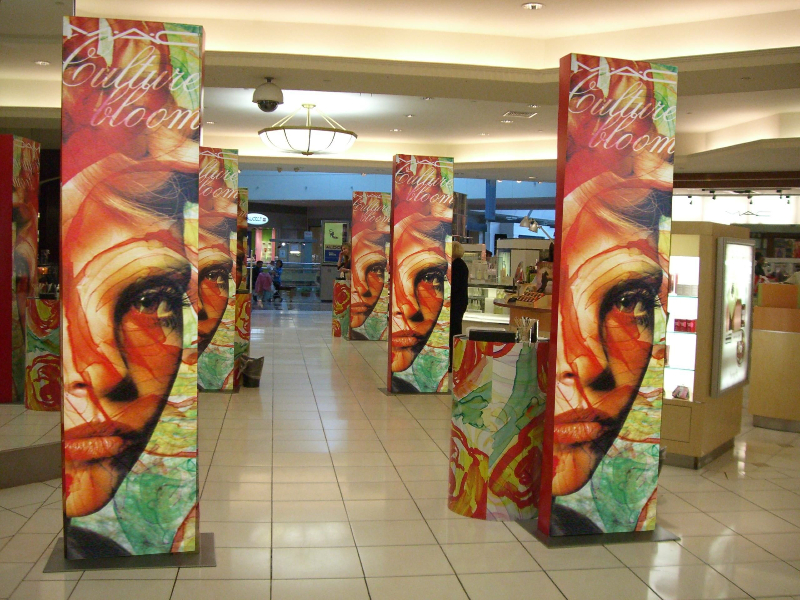 Digital C Print InStore Graphic Towers