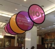 Color X produced for Bloomingdales custom telescopic graphics display
