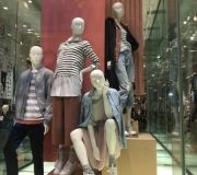 l wrapped backdrops for in store display for fashion retailer