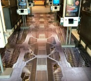 Vinyl floor graphics for in store promotion