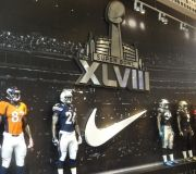 Super Bowl graphics! - Dimensional logo and printed wallpaper