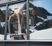Vinyl Window Graphics for menswear retailer