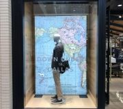 Custom built Lightbox and digitally printed backlit fabric for retail window display