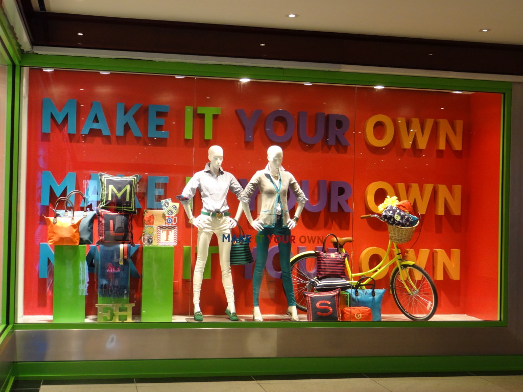 Retail Window Display Dimensional Letters